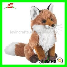 E086 Lifelike Brown Plush Fox Stuffed Animals