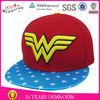 6 Panel Snapback Hat/Snap Back Caps/ Flat Brim Import Snap Back Hats