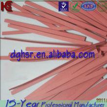 Cross-shaped silicone rubber zebra strip