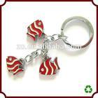 Cute fish shaped fashion key chain