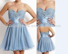 NY-1614 Boned bead and crystal-embellished bodice evening dress
