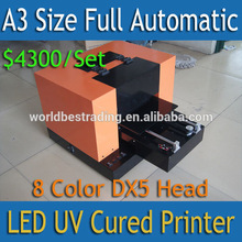 [K-PRINT] 6 Years Experience-Directly Priniting Machine UV Printing Machine-A3 Size Full Automatic 8 Color DX5 Printer Head Mini