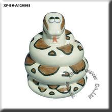cute unpainted hobby pottery snake money box