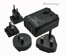 SAA cert. 4.5A 4 port US/UK/AU/EU Plug Home Wall Charger with high quality