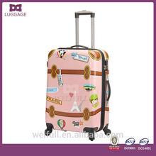 Stylish ABS Hard Shell Animal Printed Luggage