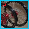 MOTOCROSS FRONT REAR WHEELS RIM 36 SPOKES CNC HUB CR 125 CRF 250 450