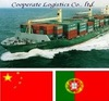 FCL container shipping to Portugal from China