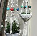 conil colore perline di legnoimpianto di gancio decorativi da giardino