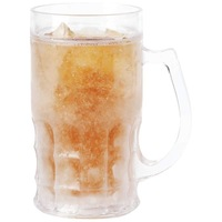 Double Wall Gel Freezer Mug, Beer Mug with Freezing Gel