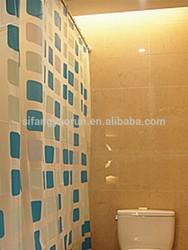 Diamond shower curtain folding shower curtain