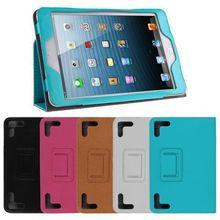 Universal Folio PU Leather Case Stand Protective Cover For iPad Mini