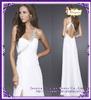 MZC0080 2014 latest design Sequins Backless Prom White One shoulder dress