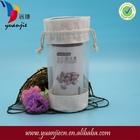 New style drawstring cotton jute bottle bag