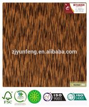 artificial wood veneer copy natural wenge ayous raw material for fancy plywood door furniture