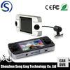 "2.7"" triple camera GPS car dvr recorder/car dash cam with three lens 360 degree full view"