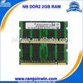 Comprar ordenadores portátiles baratos en china 128mb*8 ram ddr2 2gb 6400 para el ordenador portátil