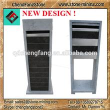 2014 new design blue stone letterbox/ stone letter box