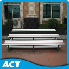 Ergonomic design tiered grandstand with aluminum bench