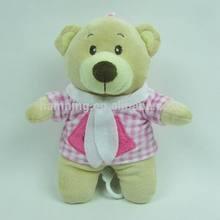 Soft music bear plush toy Bear stuffed toy with pink dress