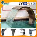Ornamento artificial del hotel parque de agua de acero decoración 304/316 cascada de la piscina de natación