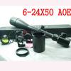 Bush 6-24x50AOE Riflescopes Hunting Scopes with 25.4 Dia mounts Scope Rings