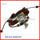 Fashion Square Watch Leather Band Diamond Watch