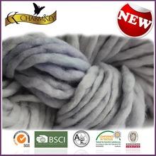 Gray organic hand knitting wool yarn for hand made baby sock&glove