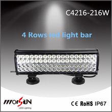 c ree 4 row 216W led light bar with side bracket 216w c ree 4 Row Led light bar