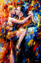 tango of love--leonid afremov palette knife painting home decor figure pictures