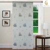 hot sale fabric colorful kitchen curtains beautiful printed for cafe curtains