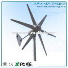 12V/24V 300w wind generator/small wind turbine for homes