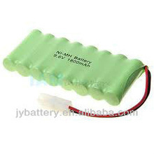 High capacity Ni-MH AA 1800mAh 9.6V rechargeable battery pack