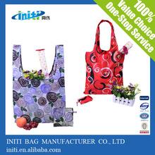 Wholesale waterproof foldable nylon shopping bag