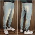 atacado moda mulher algodãopersonalizado jogger denim calças jeans