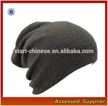 XY389/ Custom slouch beanie slouch knit hat/ rib knit skull hat ski hat wholesale