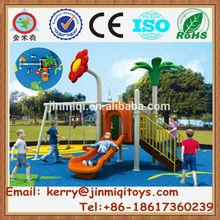 New commercial outdoor slides and swings, plastic swing and slide set, small children slide toys JMQ-J017F