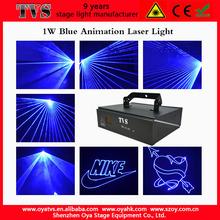 Newest laser outdoor advertising laser light logo US-66 1W blue advertising laser projector