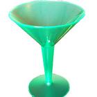 China Manufacturer Disposable Plastic clear PS neon colored Martini glass