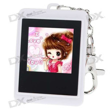 "Mini 1.5"" LCD Rechargeable Digital USB Photo Frame Keychain with 8M Memory for 140 Photos"