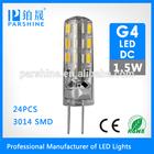 2014 New Arrival Mini smd G4 led lamp for decoration DC 220V