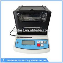 Portable density meter for plastic materials