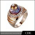 Nuevos diseños muy baratos India anillo boda titanio 2014 hecho con elementos Swarovski