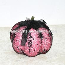 New design lace pink halloween led light pumpkin