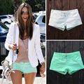4836 fanshou 2014 moda ilkbahar yaz kadın şort düşük bel pamuk sıcak pantolon kot şort kadın kısa pantolon