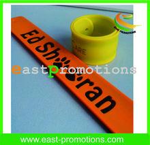 Promotion---Customized orange/ yellow slap wristband