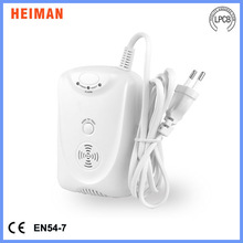 AC100-240V Heiman independent combo co and gas detector with 9V rechargeable backup battery(EN50291)