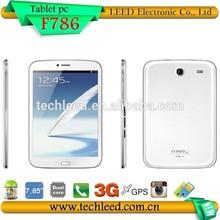 7.85inch MTK8312 Dual core GSM Quadband 3G phone call tablet pc F786