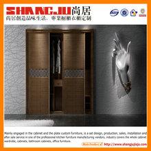 closet manufacturer mdf French Glass Door Wardrobe Manufacturer