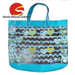 Fashion Plastic shopping bag pvc handbag for women