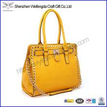 Good Style Top Grade PU Leather Double Handle Satchel Handbag